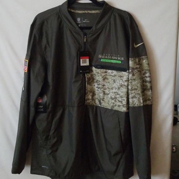the latest 0f303 57734 Seattle Seahawks Nike Shield Salute to Service Jac NWT